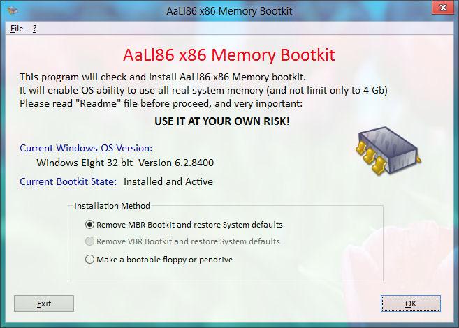 x86 Memory Limits Bootkit tool